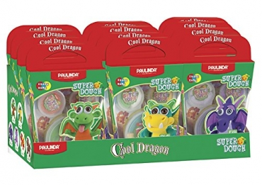 Super Dough Knetfigur Knete Modelliermasse Cool Dragon im 12er Set