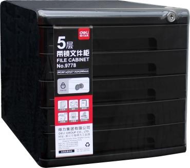 Farbe Grau aus Kunststoff mit 3 F/ächern Yellow One Hochwertige Schubladenbox A4 abschlie/ßbar mit Schloss