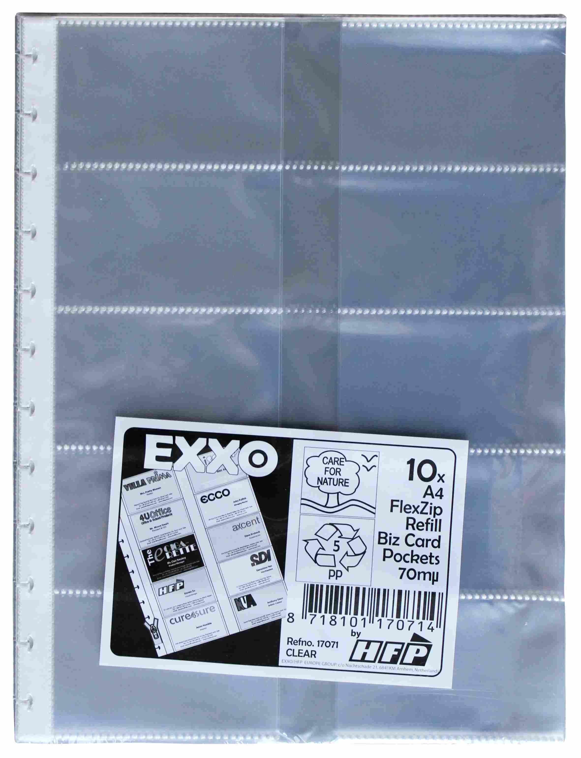 Visitenkartenhüllen Für 10 Visitenkarten Passend Für Vistenkartenbuch Flexzip A4 10er Pack
